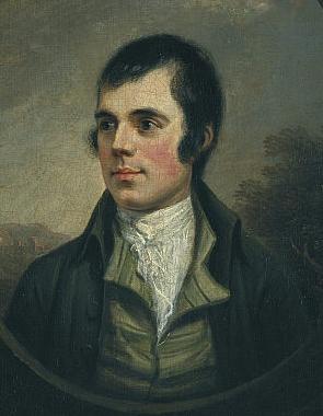 Robert Burns painted by Alexander Naysmith. Scottish National Portrait Gallery.