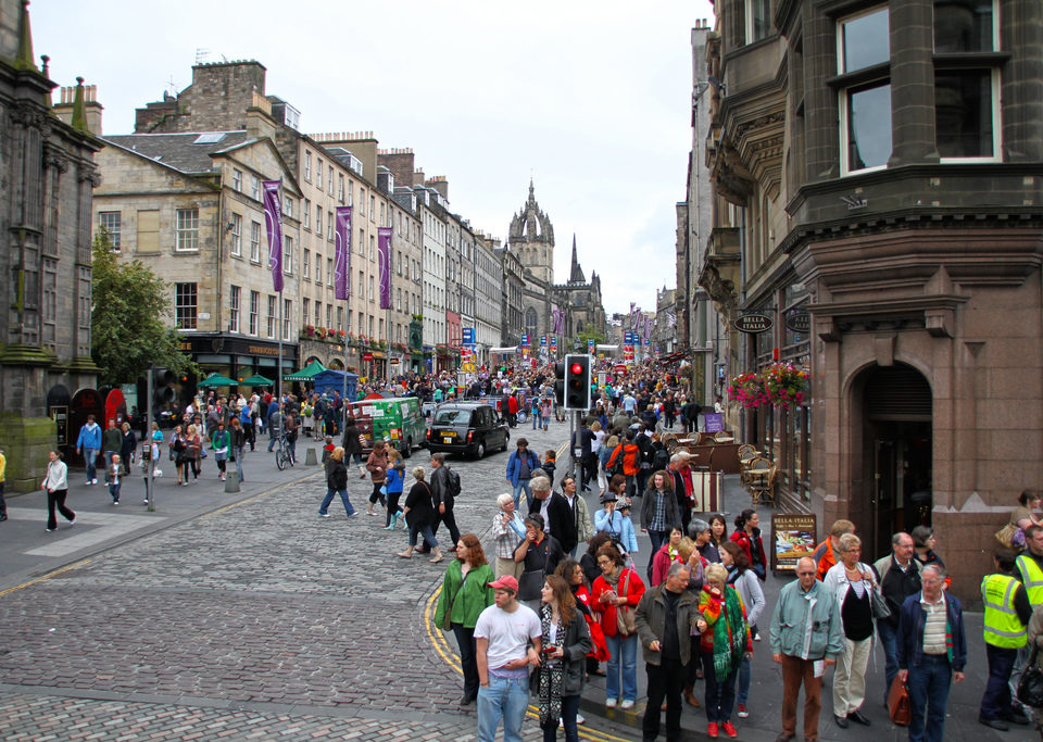 View of the Royal Mile in Edinburgh